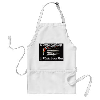 Mom's Cooking is Music to my Nose Apron, White Standard Apron