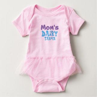 Mom's Dairy Farmer Baby Girls Tutu Outfit Baby Bodysuit