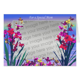 Mom's Day Special Flowers (photo frame) Greeting Card