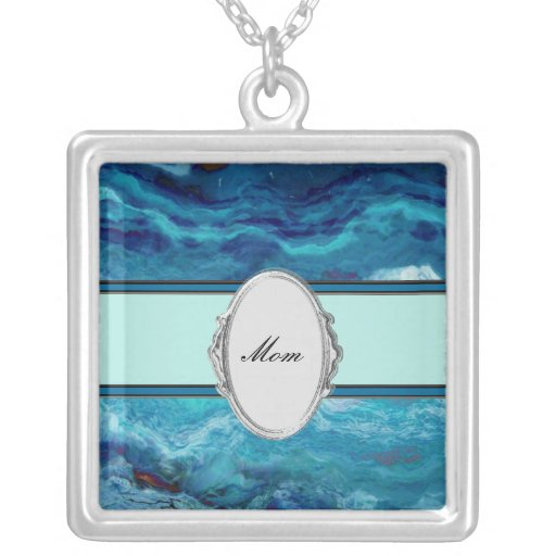 Mom's Designer Blues Necklace