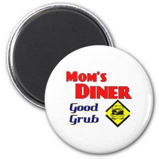 Mom's Diner Good Grub Retro Restaurant Fridge Magnet