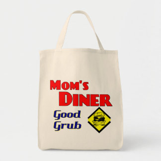 Mom's Diner Good Grub Retro Restaurant Tote Bags