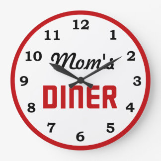 Mom's Diner Large Clock