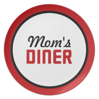 Mom's Diner Party Plate