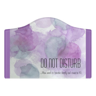 Mom's DO NOT DISTURB Sign - Door Hanger - Mother