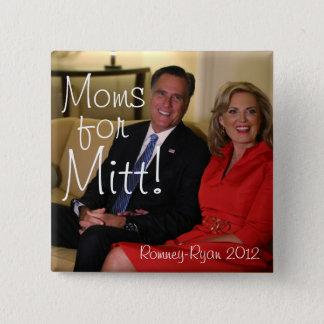 Moms for Mitt! 15 Cm Square Badge
