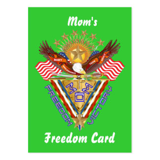 Mom's Free Pass Card View About Design Business Cards