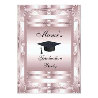 Mom's Graduation Party Formal Invitation