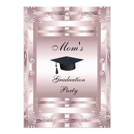 Mom's Graduation Party Formal Invitation 1 Invitation