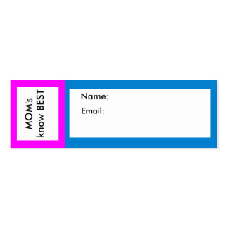 MOM's know Best The MUSEUM Zazzle Business Card Template