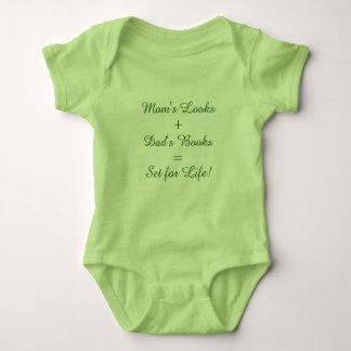 Mom's Looks + Dad's Books = Set for Life! Baby Bodysuit