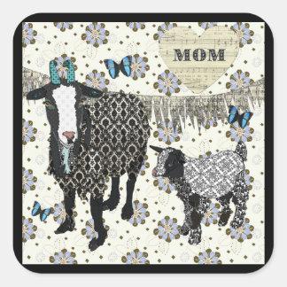Mom's Love Junebug & Fainting Goat Baby Sticker