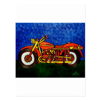 Moms Motorcycle Postcard