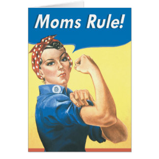 Moms Rule Funny Mother's Day Greeting Card