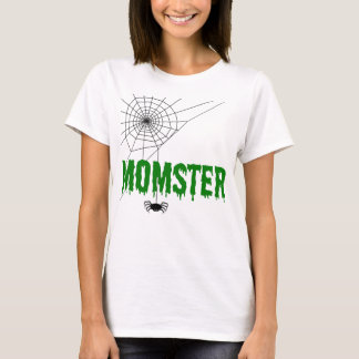 Momster Green Dripping Font Spider Web T-Shirt
