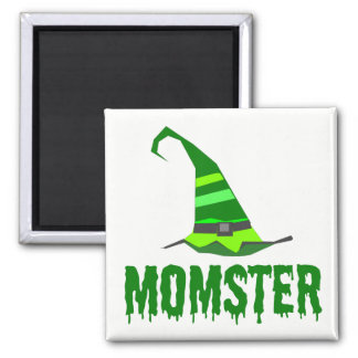 Momster Green Dripping Font Witch Hat Magnet