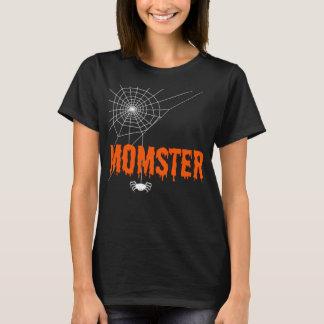 Momster Orange Dripping Font Spider Web T-Shirt