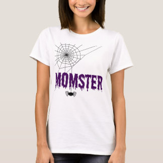 Momster Purple Dripping Font Spider Web T-Shirt