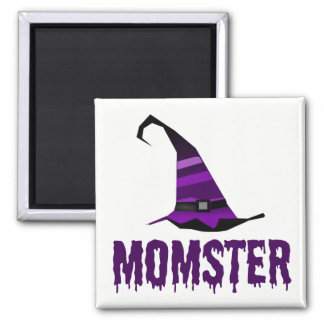 Momster Purple Dripping Font Witch Hat Magnet