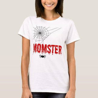 Momster Red Dripping Font Spider Web T-Shirt