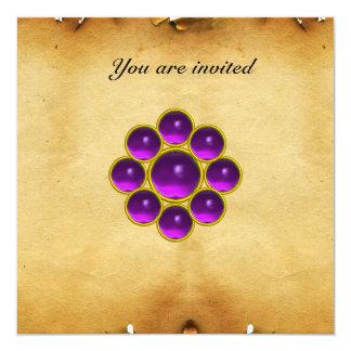 MON amethyst purpleparchment Card