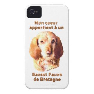 Mon Coeur Appartient A Un Basset Fauve de Bretagne iPhone 4 Case-Mate Cases