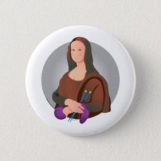 Mona Knits 6 Cm Round Badge