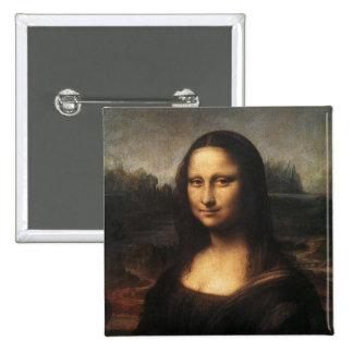 Mona Lisa 15 Cm Square Badge