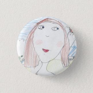 Mona Lisa 3 Cm Round Badge