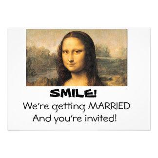 Mona Lisa, 5x7 Wedding invitation