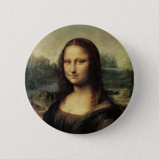 Mona Lisa 6 Cm Round Badge