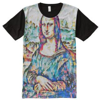 Mona Lisa Acrylic Peace Portrait All-Over Print T-Shirt