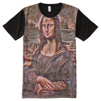 Mona Lisa Alternate Oil Portrait All-Over Print T-Shirt