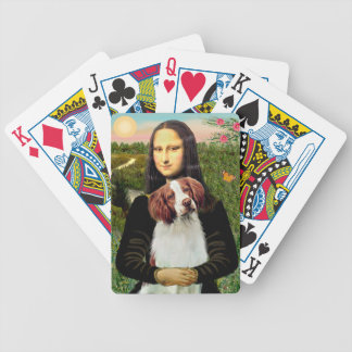 Mona Lisa and Brittany Spaniel Bicycle Playing Cards