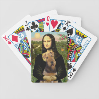 Mona Lisa and her Airedale (#1) Bicycle Playing Cards