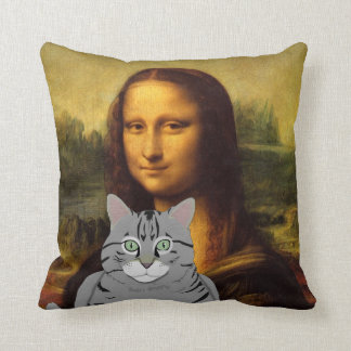 Mona Lisa and her cat Pillow