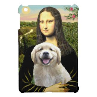 Mona Lisa and her Golden Retriever Puppy Cover For The iPad Mini