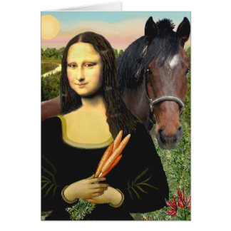 Mona Lisa and her Quarter Horse Card