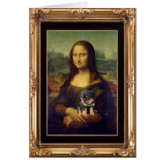 Mona Lisa and Her Rottweiler Card