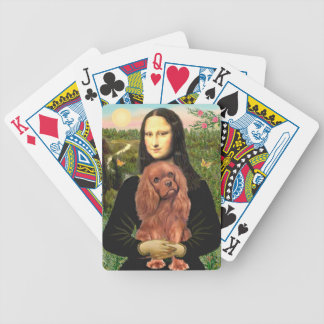 Mona Lisa and RAuby Cavalier King Charles Poker Deck