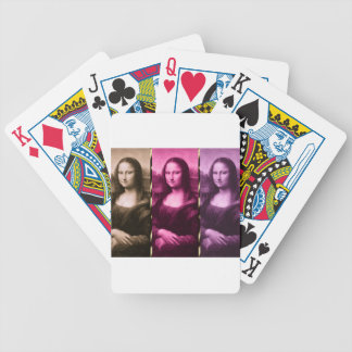 Mona Lisa Animal Print Purple Pink Chocolate Poker Deck
