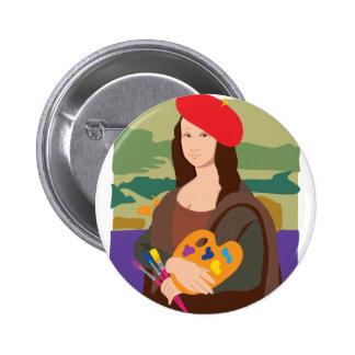 Mona Lisa Artist Button