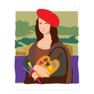 Mona Lisa Artist Postcard