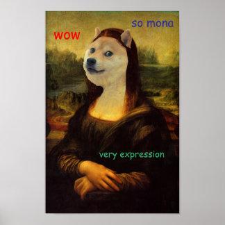 Mona Lisa Artistic Doge Poster
