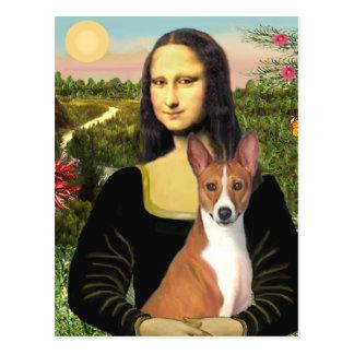 Mona Lisa - Basenji 1 Postcard