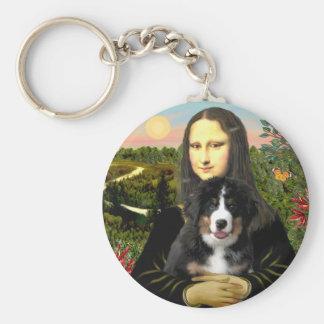 Mona Lisa - Bernese Mt Dog Puppy Key Ring
