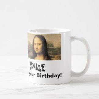 Mona Lisa Birthday Classic White Mug