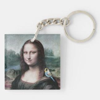 Mona Lisa & Budgies Key Ring