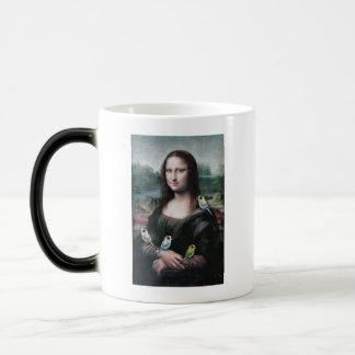 Mona Lisa & Budgies Magic Mug