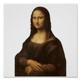 Mona Lisa by Leonardo da Vinci circa 1505-1513. Poster